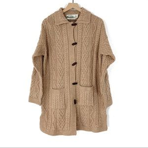 Aran Crafts Ireland Merino Wool Chunky Cardigan